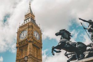イギリスの時計塔