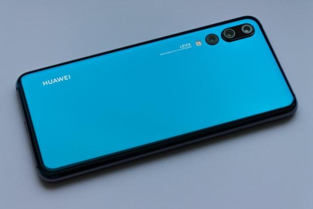 ブルーカラーのスマートフォン
